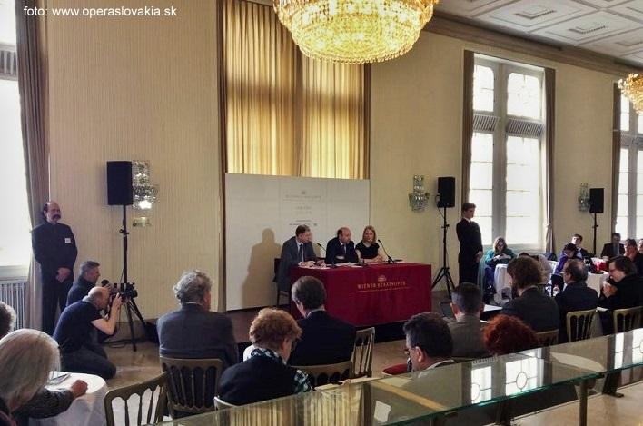 Tlačová konferencia vo Viedenskej Štátnej opere, foto: Natália Dadíková