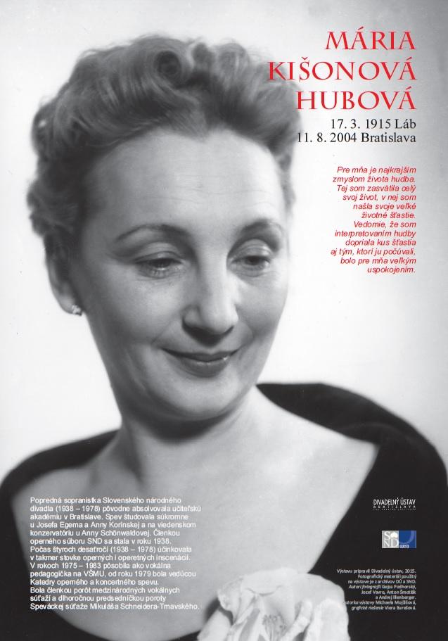 Výstava Mária Kišonová-Hubová, plagát