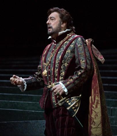 Plácido Domingo ako Don Carlo v opere Ernani, foto: Marty Sohl/Metropolitan Opera