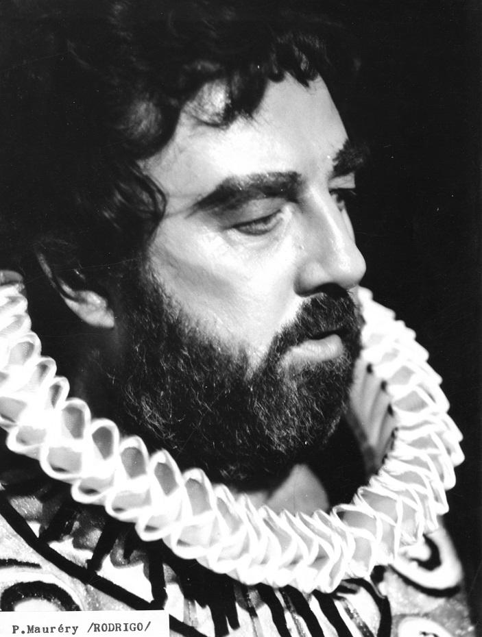 Don Carlos, Opera SND, (1981), Pavol Mauréry (Rodrigo), foto: Jozef Vavro, archív SND
