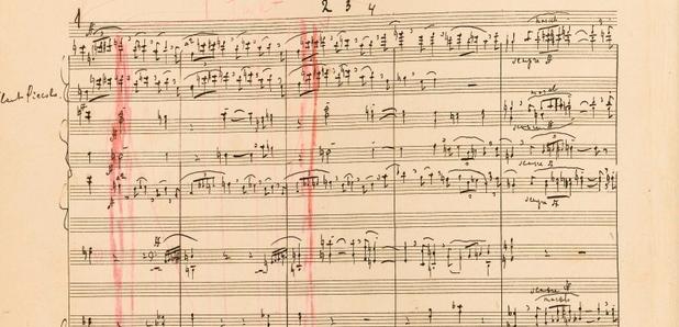 dražený rukopis Sergeja Rachmaninova
