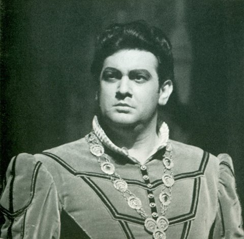 Foto z prvého predstavenia Plácida Dominga vo Viedenskej opere, Don Carlo 19. máj 1967