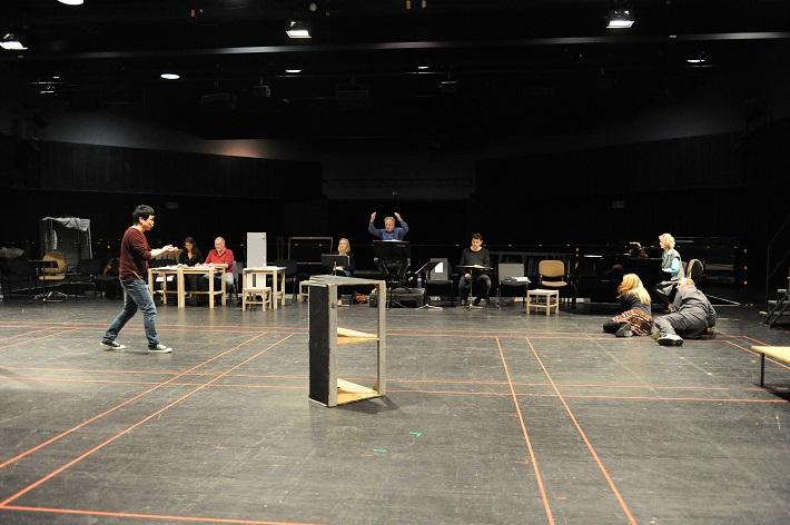 Skúška opery Šperky Madony, skúšobné javisko Opery SND, foto: Alena Klenková
