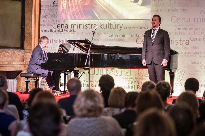 Udeľovanie Cien ministra kultúry SR za rok 2014, M. Lapšanský, Š. Kocán, foto: MKSR