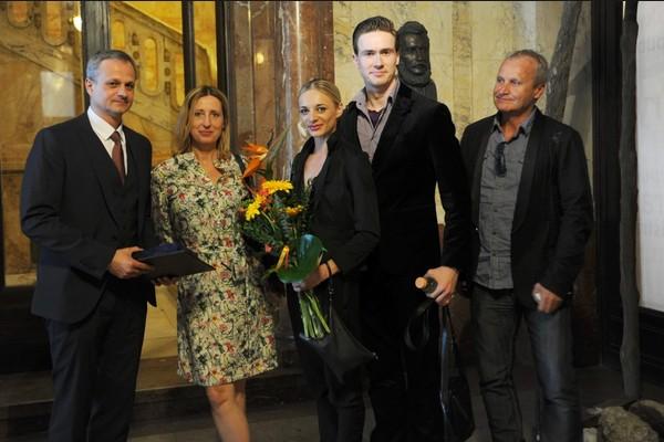 Udeľovanie Cien ministra kultúry SR za rok 2014, zástupcovia Baletu SND, foto: Alena Klenková