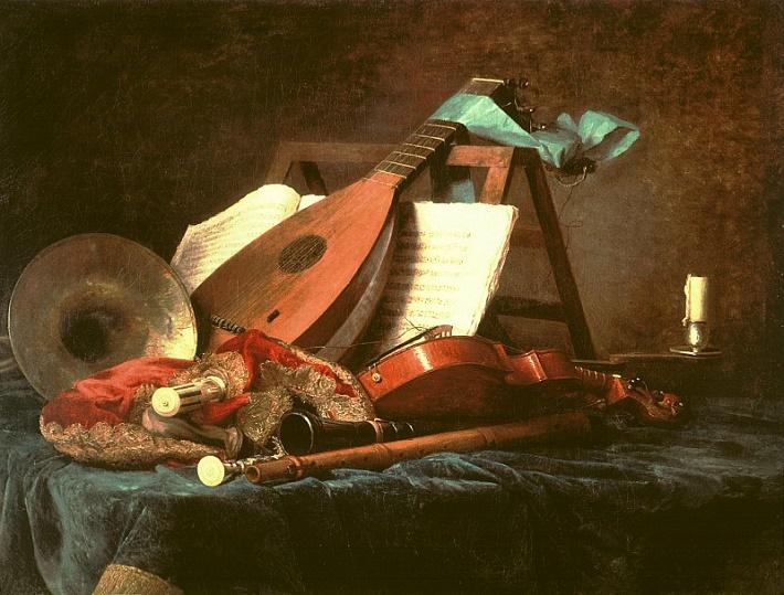 Anne Vallayer-Costerová (1744-1818), Symboly hudby (1770), ilustračné foto