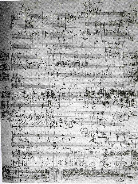 manuskript Janáčkovej opery Jenůfa