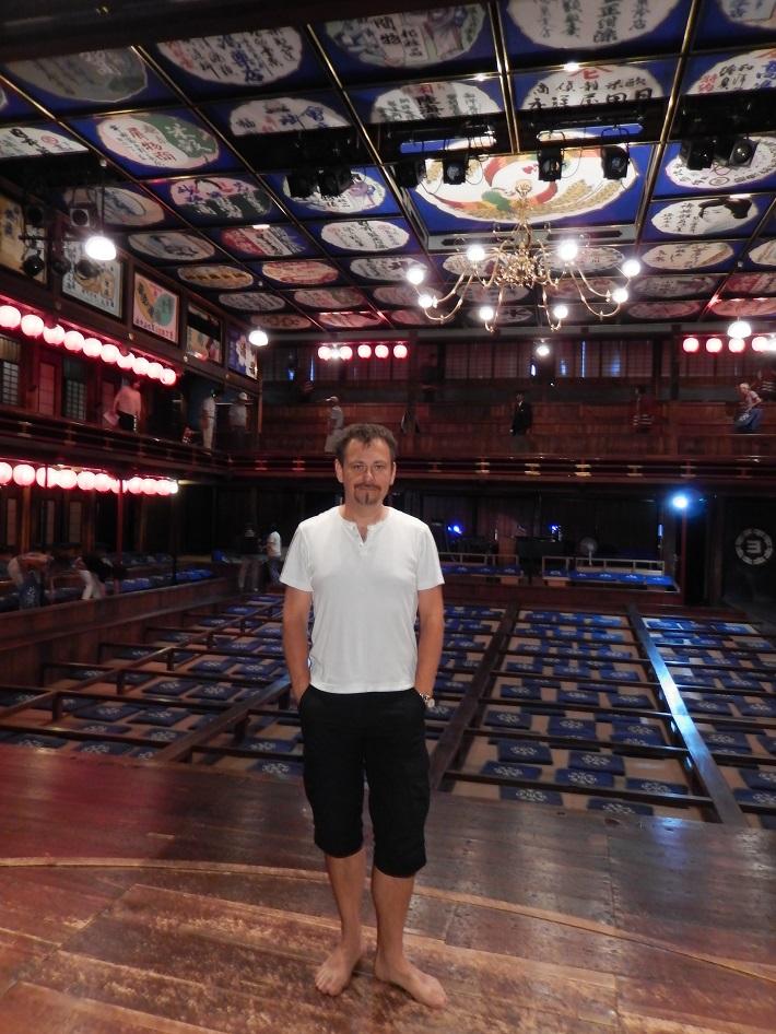 Šimon Svitok v japonskom divadle Kabuki, foto: súkromný archív