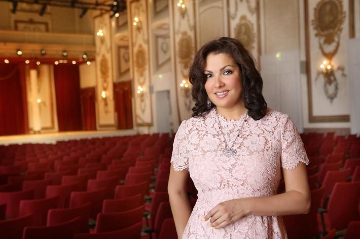 Anna Netrebko v Haydnovej sále paláca Esterházy, foto: Jozef Barinka
