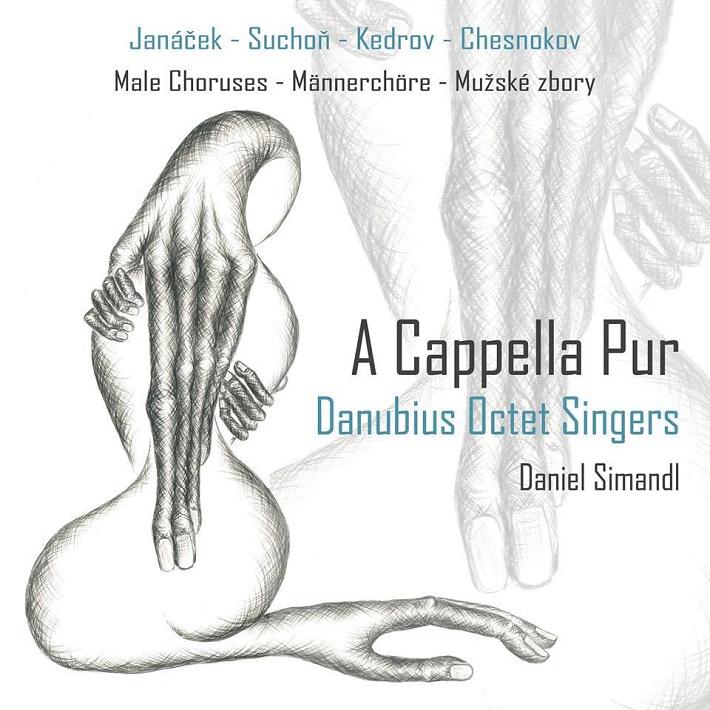 CD: A Cappella Pur, Danubius Octet Singers, obal CD - predná časť