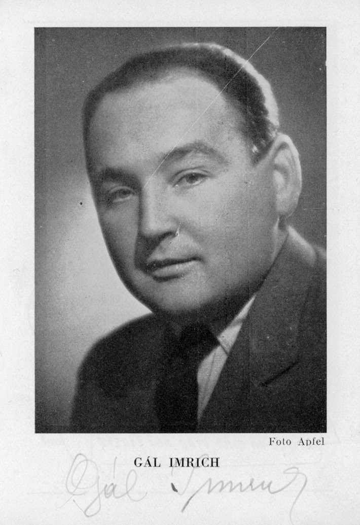 Imrich Gál, (1910 – 1977), foto: Apfel (Archív SND)