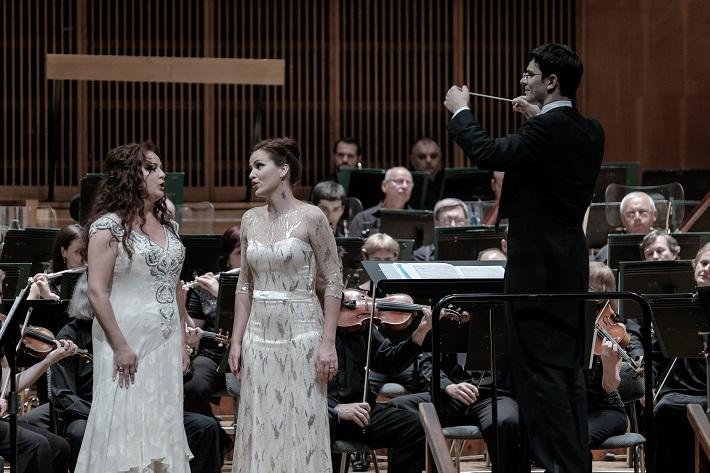Štátna filharmónia Košice, Koncert Francúzska opera, Zuzana Šveda, Andrea Vizvárí, Maroš Potokár, foto: Jaroslav Ľaš