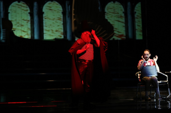 Kráľ Teodor v Benátkach, Operné štúdio SND, J. Škarka (Teodoro), foto: Jozef Barinka