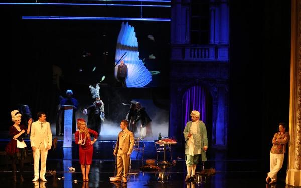 Kráľ Teodor v Benátkach, Operné štúdio SND, scéna, foto: Jozef Barinka