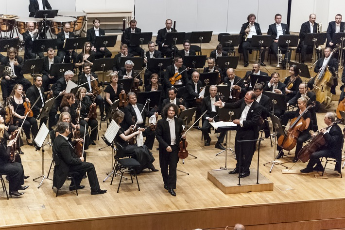 Koncert Slovenskej filharmónie,  J. Ružička, L. Svárovský, foto: Alexander Trizuljak