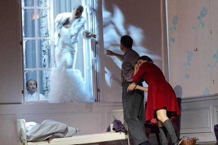 Snehová kráľovná, Eisenstadt, (2015), Martin Gyimesi (Kai), Esther Dierkes (Gerda) a Anelly Peebo (Snehová kráľovná)