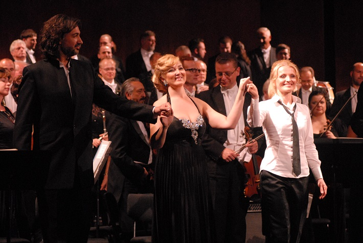 Zámocké hry zvolenské, 2014, G. Rossini: Tancredi, David Alegret, Mariola Cantarero, Jana Kurucová, foto: Archív ŠOBB
