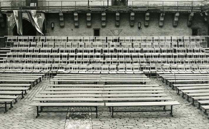 Zámocké hry zvolenské, hľadisko na nádvorí Zvolenského zámku, foto: Archív DÚ