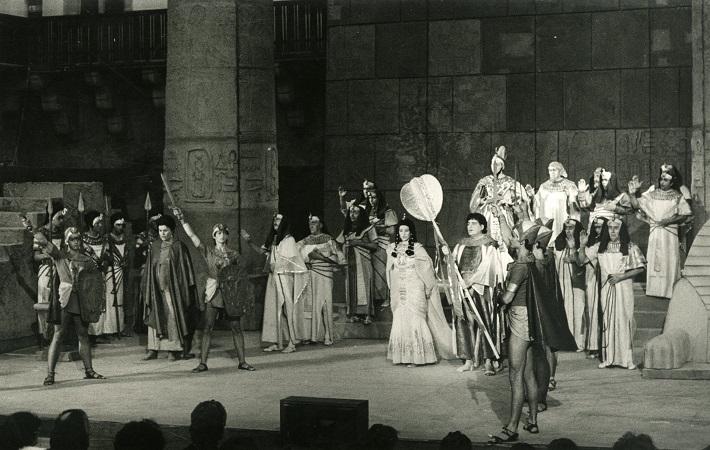 Zámocké hry zvolenské, 1986, Giuseppe Verdi: Aida, foto: Pavel Danko, (Archív DÚ)