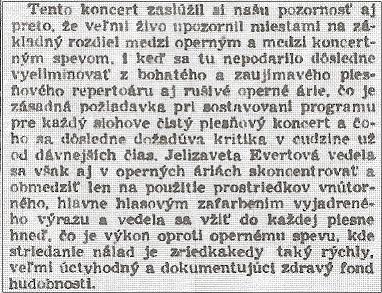z recenzie koncertu (Gardista, roč. 4, 15.10.1942, č. 236, s. 6)
