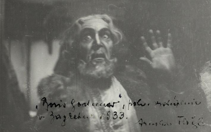 Arnold Flögl, M. P. Musorgskij, Boris Godunov (Boris Godunov), Chorvátske národné divadlo Záhreb, 1933, foto: Archív DÚ