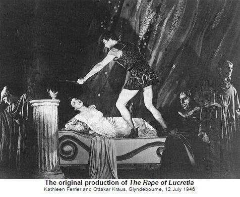 B. Britten Znásilnenie Lukrécie, Kathleen Ferrier (Lukrécia), Otakar Kraus (Tarquinius), English Opera Group 1946