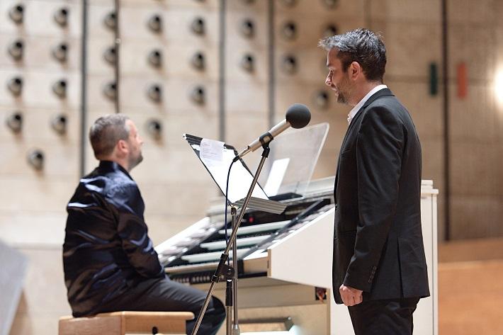 Bratislavský organový festival 2015, otvárací koncert, Karel Martínek (organ), Vladimír Kobielsky (slovo), foto: Ján Lukáš