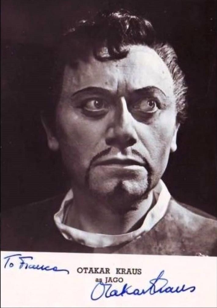 G. Verdi: Otello, Otakar Kraus – Jago, Covent Garden Londýn