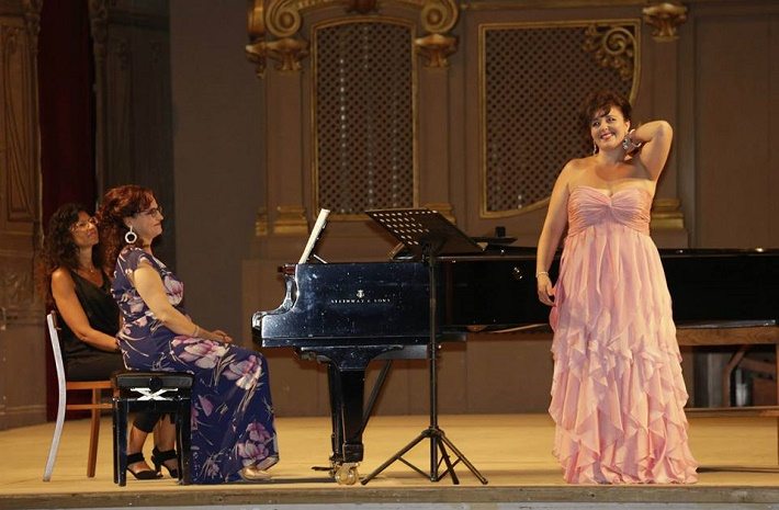 Belkantový koncert, Rossiniho operný festival, Pesaro 2015 Chiara Amarù, mezzosoprán, Carmen Santoro, klavír, foto: ROF
