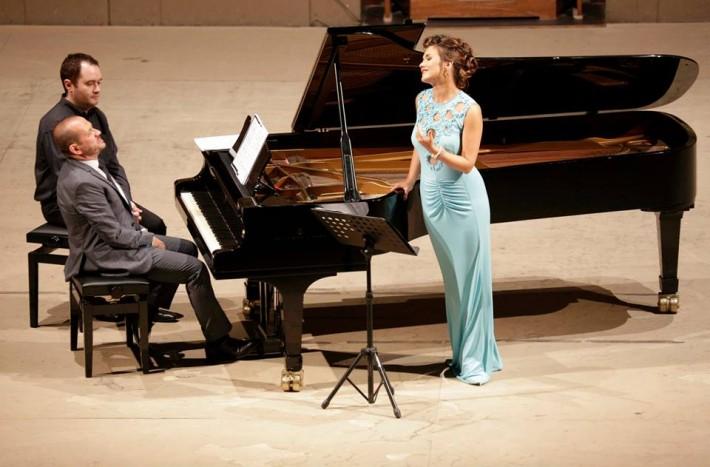 Belkantový koncert, Rossiniho operný festival, Pesaro 2015, Olga Peretyatko, soprán, Giulio Zappa, klavír, foto: ROF