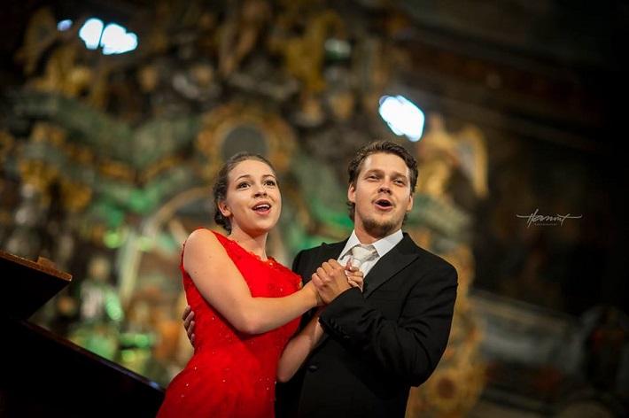 Operný benefičný koncert Operné gala 2015 v Kežmarku, Patricia Janečková, Peter Kellner, foto: Zdenko Hanout