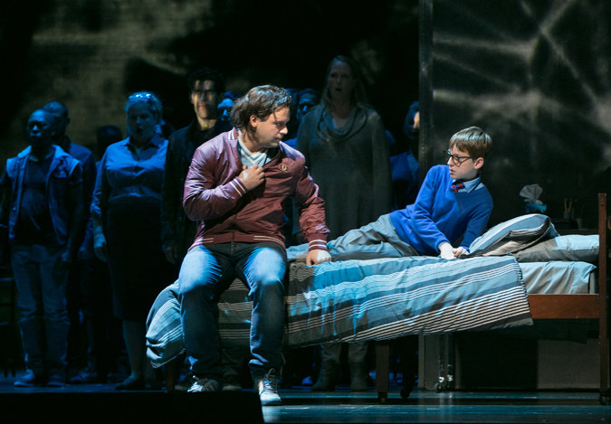 Paul Appleby a Andrew Pulver, Two Boys, Metropolitná opery New York, foto: Sara Krulwich/The New York Times