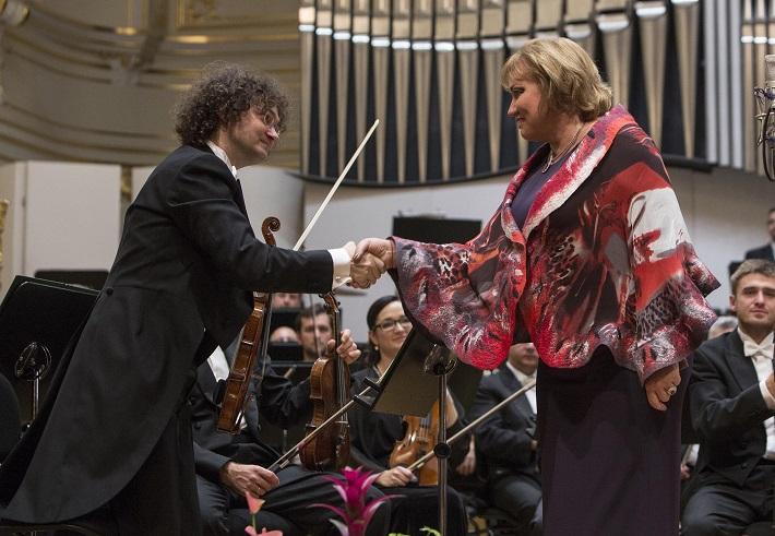 BHS 2015, otvárací koncert, Olga Borodina, Jarolím Ružička, (koncertný majster), foto: Peter Brenkus