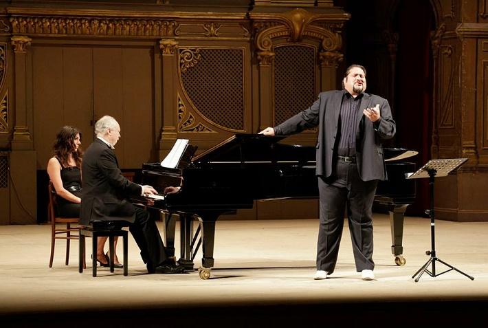 Belkantový koncert, Rossiniho operný festival, Pesar 2015, Nicola Alaimo, barytón, Richard Barker, klavír, foto: ROF