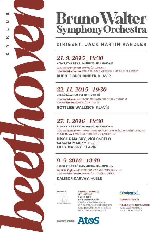 Bruno Walter Symphony Orchestra Beethoven plagát