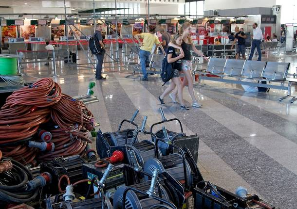 Donizetti na letisku Malpensa, (foto z príprav)