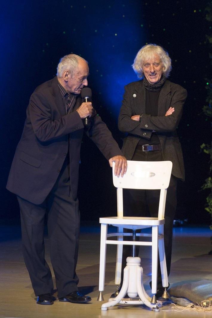 DOSKY 2015, Odovzdávanie Ceny za mimoriadny prínos v oblasti divadla, Jaroslav Blaho a Jozef Ciller, foto: Ctibor Bachratý