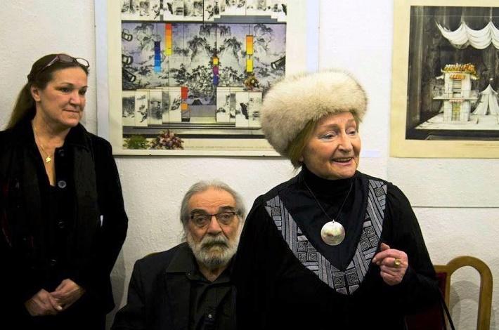 Hanákovci pri otvorení výstavy v galérii na Alžbetinej v roku 2014, foto: Jozef Horváth