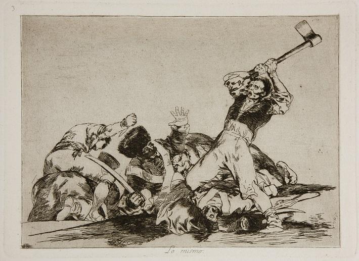 Múzeum Prado Madrid  Francisco De Goya Lo mismo - zo série Hrôzy vojny