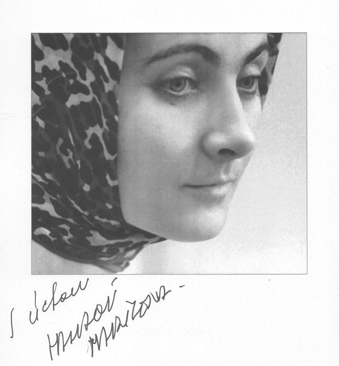 Marilena Halászová s podpisom