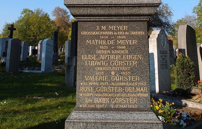 Rodinná hrobka Eugena Gürstera a Rose Delmar na cintoríne v Mníchove
