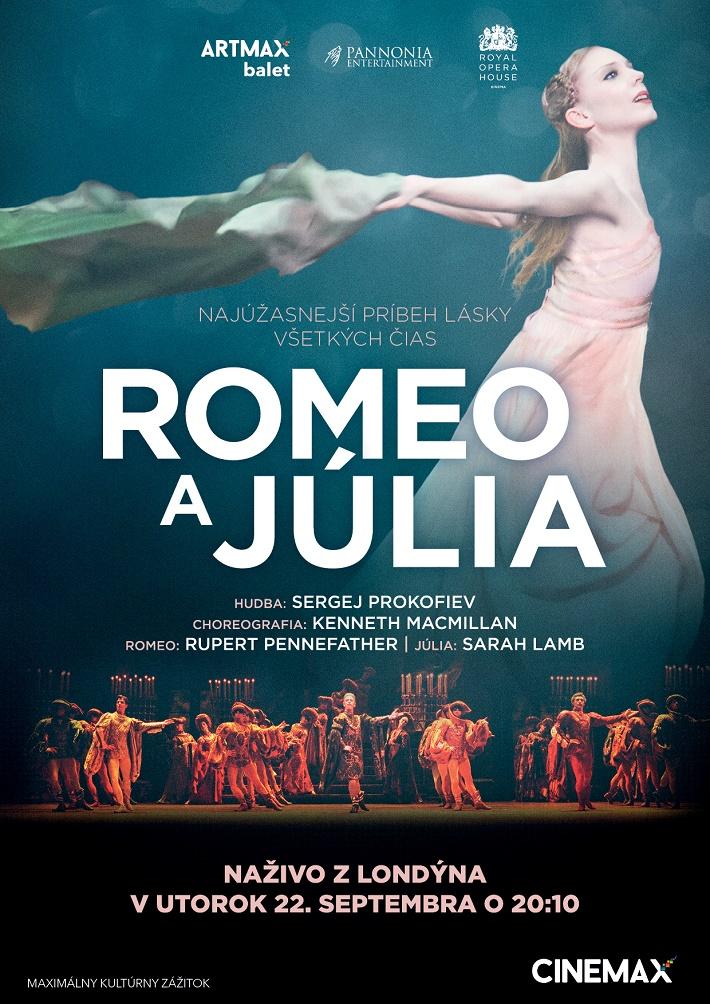 Romeo a Julia, balet CINEMAX