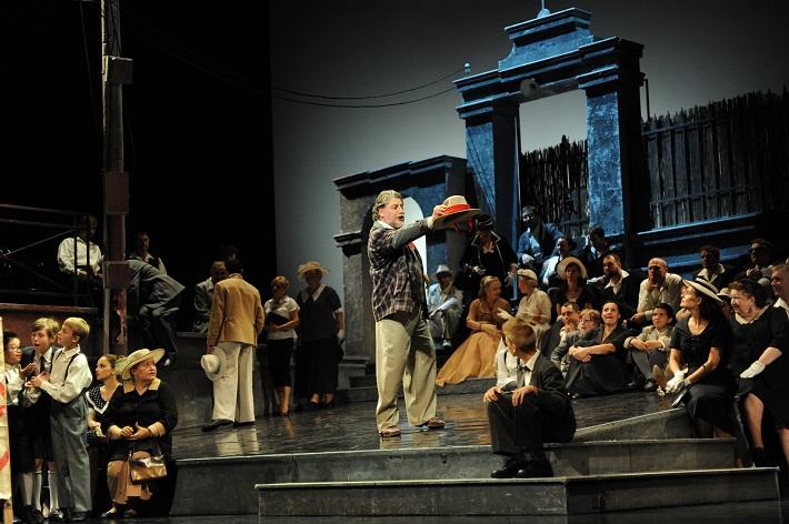 Ruggiero Leoncavallo: Komedianti, Opera SND, José Cura (Canio), foto: Alena Klenková