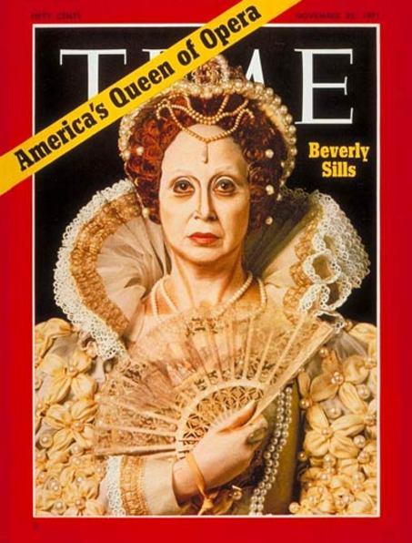 Americká koloratúrna sopranistka Beverly Sills na titulnej stránke časopisu TIME