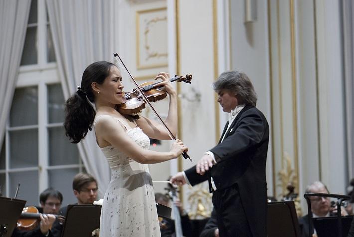 BHS 2015, Ion Marin, Viviane Hagner, Slovenská filharmónia, foto: Alexander Trizuljak