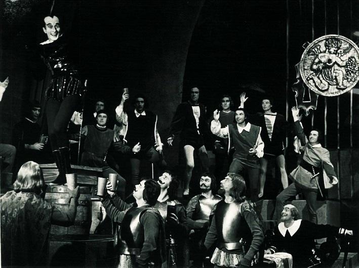 Ch. Gounod: Faust a Margaréta, Štátne divadlo Košice, 1958, Anton Matejček (Mefisto), foto: Mária Litavská (archív DÚ)