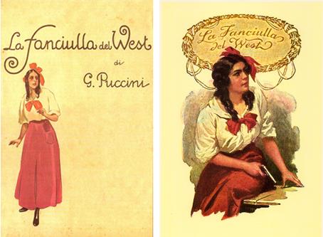 Dievča zo západu - dobový plagát k uvedeniu opery.