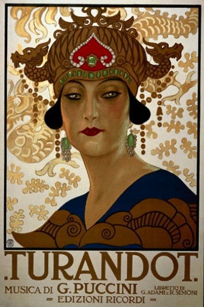 Dobová ilustrácia k opere Turandot