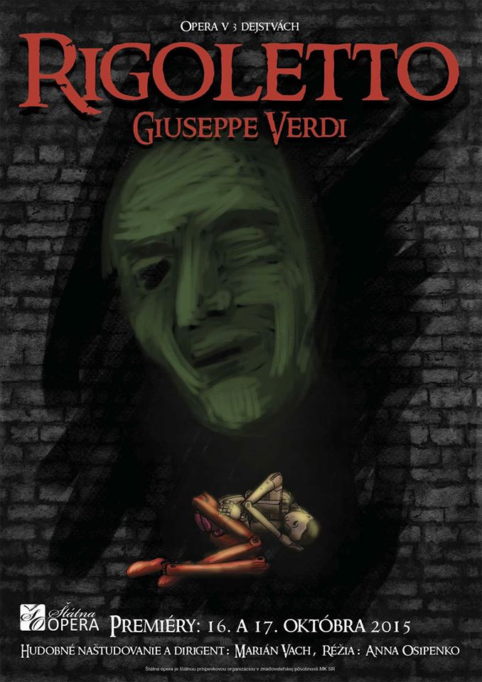 Giuseppe Verdi, Rigoletto, ŠOBB, plagát