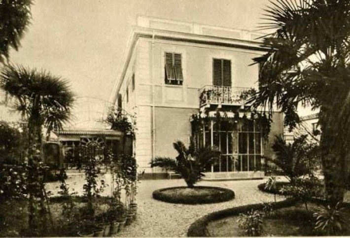 Pucciniho vila v Torre del Lago na dobovej snímke v čase keď v nej žil skladateľ